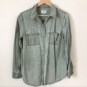 Old Navy | Relaxed Fit Blouse Army Green